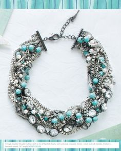 Chloe and Isabel: The Turquoise Torsade. Check out my online boutique! Www.chloeandisabel.com/boutique/christinejane