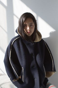 Hache Hooded Cape