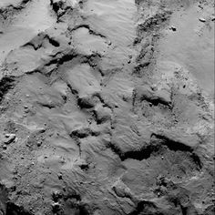 Close-up of The Philae lander's landing site seen 30km away from the cometthe region containing Philaes primary landing site. The mosaic comprises two images taken by Rosetta's OSIRIS narrow-angle camera taken on Sept. 14, 2014 from a distance of about 30 km. Philae lander dropped towards Comet 67P/Churyumov-Gerasimenko by the European Space Agency's Rosetta satellite -