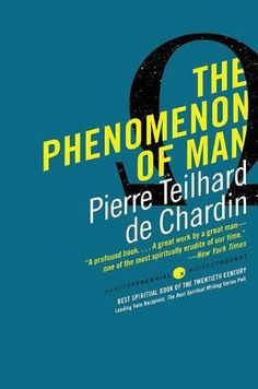 The Phenomenon of Man by de Chardin.  He was forbidden to publish this book during his life time by the Vatican.  A paleontologist, de Chardin thinking was visionary and very much ahead of his time.  I remember reading this in the faculty room, and an older teacher telling me how she had de Chardin as a lecturer.  What a joy to have conversations with her that year.