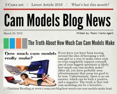 "LATEST www.i-camz.net WEBCAM MODELS BLOG NEWS - Check ""The Truth About How Much Cammodels Make"" - http://go.shr.lc/1RgpQKq - Webcamming to make extra cash or as a full job? Then one of your biggest questions is how much can cam models make? #cammodels #camjobs‬"