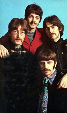 An outtake that makes them all look stoned (which they probably were!)