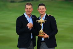 Justin Rose and Henrik Stenson with the Ryder Cup