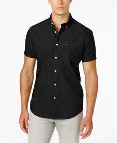 Tommy Hilfiger Men's Maxwell Short-Sleeve Button-Down Shirt | macys.com
