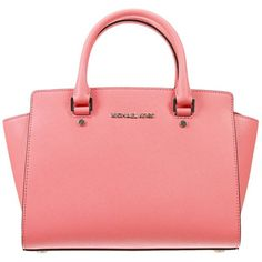 MICHAEL Michael Kors Totes ($290) ❤ liked on Polyvore featuring bags, handbags, tote bags, coral, handbags totes, red tote bag, red tote purse, tote handbags and tote hand bags