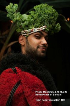 Speaking of royalty, apparently this is legit. A royal prince in a gishwhes kale crown.