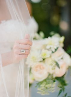 Vintage emerald-cut engagement ring: Elegant Rustic Wedding with Rose Gold Details