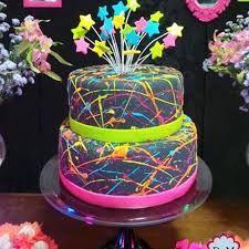 Resultado de imagem para bolo festa neon