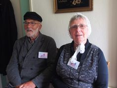 echtpaar Bouma in het openlucht museum De Sûkerei yn Damwoude Friesland