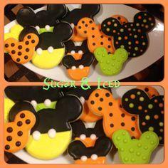 Mickey mouse Halloween cookies