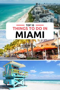 Top things to do in Miami from South Beach to the Everglades. Discover the top 10 best things to do in Miami with our informative guide to Miami. Explore the Miami art deco district in Miami Beach, or the culture in Little Havana. For the best Miami Beach head to South Beach. Take a Bahamas Day Trip from Miami, now one of the top things to do in Miami.