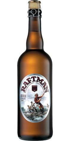 Cerveja Unibroue Raftman, estilo Specialty Beer, produzida por Unibroue, Canadá. 5.5% ABV de álcool.