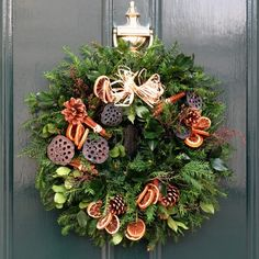 Rustic Natural Fruits Christmas Wreath