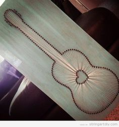 Guitar String Art | String Art DIY | Free patterns and templates to make your own String Art