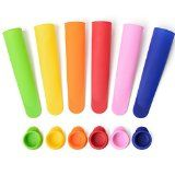 #9: Sunsella Premium Silicone Popsicle  Ice Pop Molds  Set of 6 with Lids