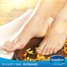 Did you know that our feet constantly lose moisture through sweating? Don't let those dry heels become permanent, moisturize well with #Vaseline.