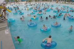 a9085288827 Can you see the distressed swimmer in the crowded wave pool  This video by  Lifeguard Rescue has over a million views in just two days.