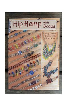 Hemp Jewelry Book  Craft Book Hip Hemp Jewelry by HempBeadery, $7.98