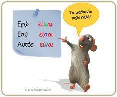 κλίση εγώ εσύ Greek Language, Learning Activities, Grammar, Education, School, Charts, Greek, Graphics, Graph Of A Function