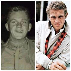 Steve McQueen-Marine Corps-1947-50-served as honor guard to President Truman's yacht. He saved the lives of 5 other Marines during an Arctic exercise, pulling them from a tank before it broke through the ice into the sea.