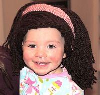 Crochet wig hat free pattern