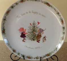1973 Holly Hobbie Christmas Plate by ContemporaryVintage on Etsy