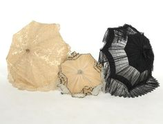 Group of Three Parasols, Probably French, ca. Late 19th Century