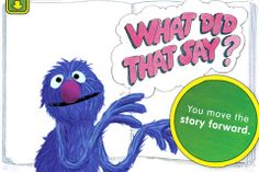 The Monster at the end of this book / 3+ / $4.99 / iPad, iPhone.  This classic picture book featuring Sesame Street's Grover, lends itself perfectly to the digital book format. Sticking to the original story and illustrations, readers are invited to knock down the various walls and structures Grover creates to keep the reader from turning pages.