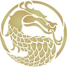 Dragon Head Stencils Dragons head stencil