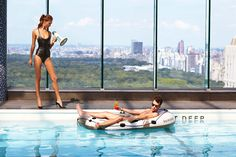 Swim in the Rooftop Pool @ Le Parker Meridien Hotel NY  Sexy / Fun / Colorful / Structured  LOVE IT!