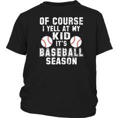 Bornmay.com ~ Products ~ I Yell At My Kid-Baseball Mom Novelty T-Shirt Gifts ~ Shopify