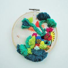 Hoop art by Katy Biele #embroidery