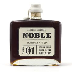 Noble Tonic 01: Tuthilltown Bourbon Barrel Matured Maple Syrup is handcrafted from fine Quebec tapped maple orchards.