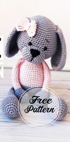 Amigurumi Cute Dog Crochet Free Pattern Part crochet amigurumi; amigurumi instructions free of charge; amigurumi crochet pattern for free Crochet Amigurumi Free Patterns, Crochet Animal Patterns, Crochet Bear, Stuffed Animal Patterns, Crochet Animals, Crochet Toys, Free Crochet, Easy Knitting Projects, Crochet Projects