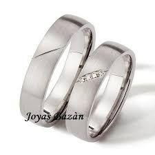Resultado de imagen para anillos de matrimonio de plata