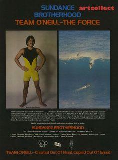 Vintage Surfing Ad: O'Neill Wetsuits. Reno Abellira. (1977)