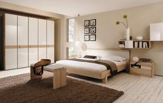 Khaki colored walls to brighten up a smaller master bedroom... Master Bedroom Wall Colors Ideas