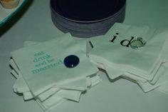 cute napkins for reception