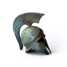 Bronze Helmet Bronze Sculpture Metal Art Sculpture by GreekMythos, $97.00