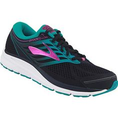 Brooks Addiction 13 Running Shoes - Womens Evening Blue Teal Victory Purple Cactus Flower