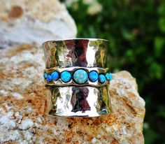 Porans Handcrafted Sterling Silver Ring Opal Unique by Porans, $49.00