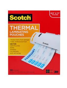 Scotch Thermal Laminating Pouches 8.9 x 11.4 Inches 3 mil, 100-Pack