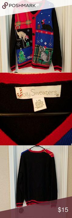 Ugly Christmas sweater Ugly Christmas sweater men's large Sweaters V-Necks