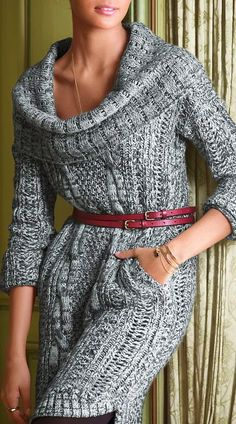 Deep Neck Belt Cardigan Click for more/// black jeans, boots & bag// wine jewelry
