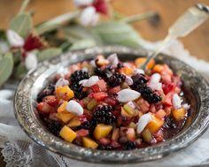 Rawmazing Raw Food Recipes--Fruit Salsa with Feijoa Blossoms Raw Vegan Recipes, Vegetarian Recipes, Healthy Recipes, Healthy Food, Yummy Food, Healthy Eating, Tasty, Whole Food Recipes, Great Recipes