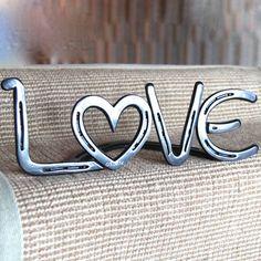 Hufeisen Liebe Zeichen stehend kann von BlacksmithCreations auf Etsy