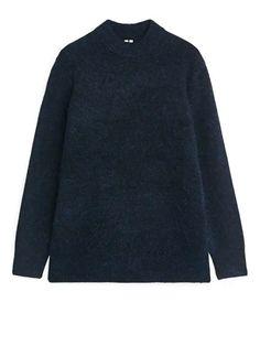 Direct Marketing, Merino Wool, Hemline, Knitwear, Dark Blue, Men Sweater, Tunic, Pullover, Sweatshirts