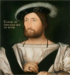Page of Portrait of Claude of Lorraine, Duke of Guise by CLOUET, Jean in the Web Gallery of Art, a searchable image collection and database of European painting, sculpture and architecture Lorraine, French History, Art History, Mary Of Guise, Palazzo, François Ii, Marie Stuart, Renaissance Portraits, Web Gallery