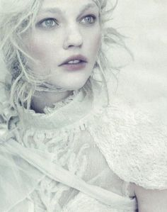 sasha pivovarova by paolo roversi for vogue italia