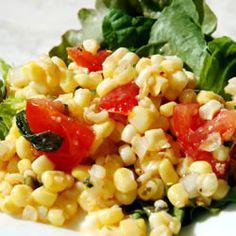 Summer Corn Salad Allrecipes.com: A great alternative to coleslaw! Not that I won't make coleslaw...